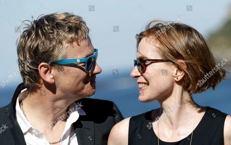 Stock Image of Actors Thomas Schüpbach and Judith Hofmann (R) pose for the photographers during the presentation of the film 'The innocent' at the 66th edition of San Sebastian international Film Festival (SSIFF), in San Sebastian, Basque Country, northern Spain, 22 September 2018. The SSIFF will be held from 21 to 29 September 2018.