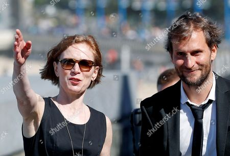 Stock Picture of Swiss film director Simon Jaquemet (R) and actress Judith Hofmann (L) pose for the photographers during the presentation of the film 'The innocent' at the 66th edition of San Sebastian international Film Festival (SSIFF), in San Sebastian, Basque Country, northern Spain, 22 September 2018. The SSIFF will be held from 21 to 29 September 2018.