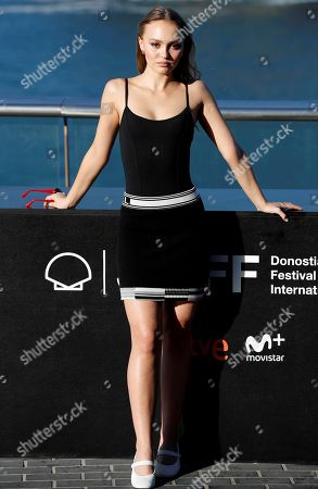US-French actress and cast member Lily-Rose Melody Depp poses for the photographers during the presentation of 'L'Homme Fidele' at  the San Sebastian International Film Festival, in San Sebastian, Basque Country, Spain, 22 September 2018. The 66th edition of the SSIFF runs from 21 to 29 September.
