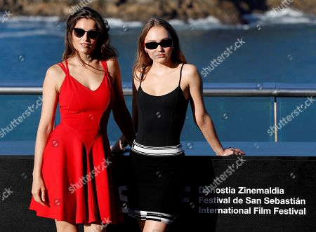 French actresses and cast members Lily-Rose Melody Depp (R) and Laetitia Casta pose for the photographers during the presentation of 'L'Homme Fidele' (A Faithful Man) at the San Sebastian International Film Festival, in San Sebastian, Basque Country, Spain, 22 September 2018. The 66th edition of the SSIFF runs from 21 to 29 September.