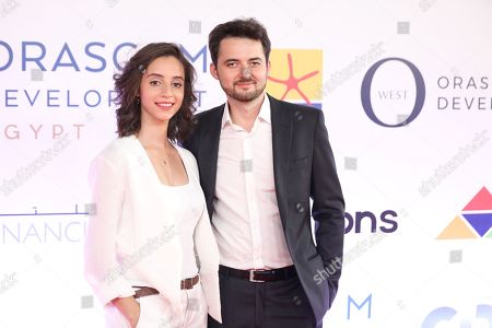 Egyptian director A.B Shawky (R) and producer Elisabeth Shawky-Arneitz (L) attend the premiere for their movie 'Yomeddine' during Gouna Film Festival at El Gouna, 470km southeast of Cairo, Egypt, 21 September 2018 (Issued 22 September 2018). The second edition of El Gouna Film Festival is held between 20 to 28 September 2018 at the red sea city of El Gouna, 470km southeast of Cairo.