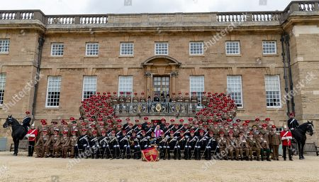 Prince Charles and members of the Queen's Own Yeomanry