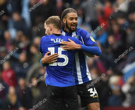 Tom Lees and Michael Hector of Sheffield Wednesday celebrate at full time