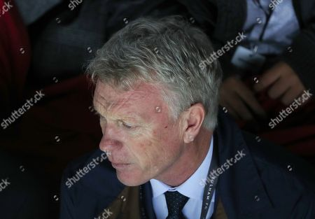 David Moyes watches from the stand