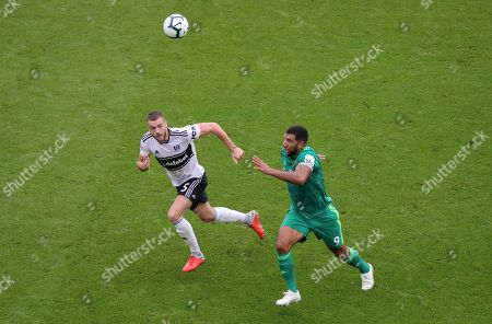 Stock Picture of Calum Chambers of Fulham and Troy Deeney of Watford