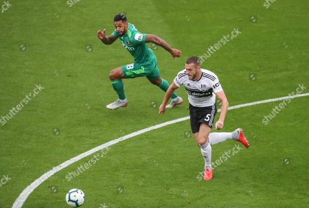 Calum Chambers of Fulham and  Andre Gray of Watford