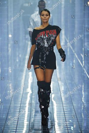 Editorial picture of Philipp Plein show, Runway, Spring Summer 2019, Milan Fashion Week, Italy - 21 Sep 2018