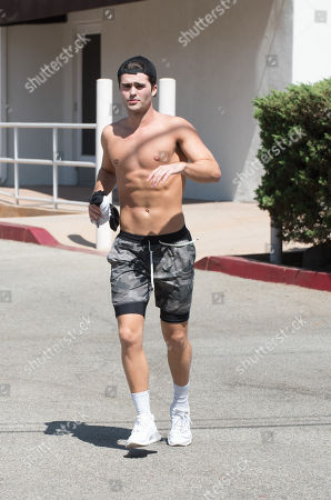 Editorial photo of Spencer Boldman out and about, Los Angeles, USA - 21 Sep 2018