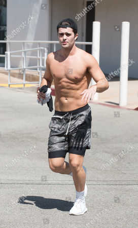 Stock Image of Spencer Boldman is spotted shirtless after a work out.