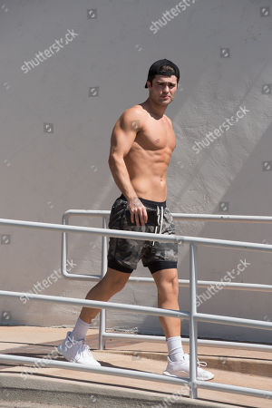 Stock Photo of Spencer Boldman is spotted shirtless after a work out.