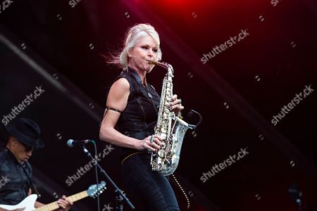 Stock Image of Mindi Abair seen at Bourbon & Beyond at Louisville Champions Park, in Louisville, Ky