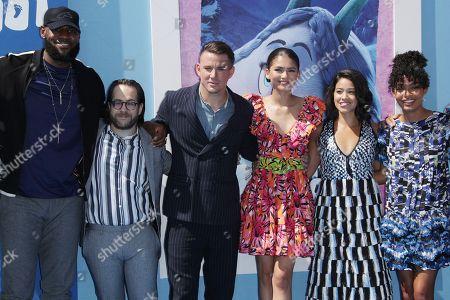 Stock Photo of LeBron James, Ely Henry, Channing Tatum, Zendaya, Gina Rodriguez and Yara Shahidi