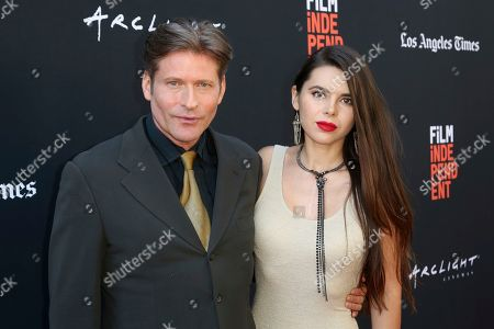 """Crispin Glover, Kristina Coolish. Crispin Glover, left, and Kristina Coolish attend the World Premiere of """"We Have Always Lived In The Castle"""" at the 2018 Los Angeles Film Festival, in Culver City, Calif"""