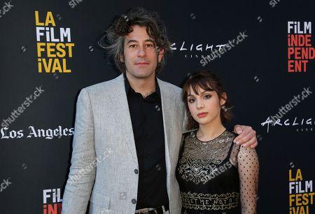 "Benjamin Kasulke, Hannah Marks. Benjamin Kasulke, left, and Hannah Marks attend the World Premiere of ""Banana Split"" at the 2018 Los Angeles Film Festival, in Culver City, Calif"
