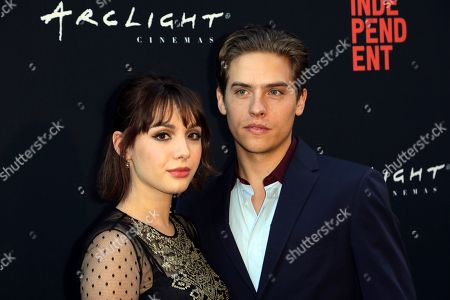"Hannah Marks, Dylan Sprouse. Hannah Marks, left, and Dylan Sprouse attend the World Premiere of ""Banana Split"" at the 2018 Los Angeles Film Festival, in Culver City, Calif"