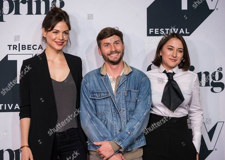 "Conor Leslie, Zelda Williams, Joshua Thurston. Conor Leslie, from left, Joshua Thurston, and Zelda Williams attend the screening of ""Shrimp"" during the Tribeca TV Festival at Spring Studios, in New York"