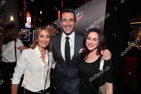 Stacey Snider, Chairman and CEO, Twentieth Century Fox Film, Jon Hamm, Pamela Levine, President of Worldwide Theatrical Marketing, Twentieth Century Fox,