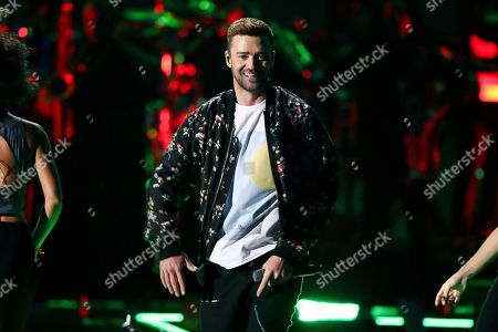 Justin Timberlake performs at the 2018 iHeartRadio Music Festival Day 2 held at T-Mobile Arena, in Las Vegas