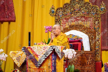Editorial photo of Dalai Lama, Tenzin Gyatso in Zurich, Switzerland - 23 Sep 2018