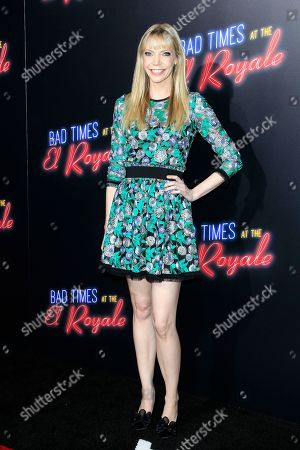 US actress Riki Lindhome arriving at the premiere of 20th Century FOX's Bad Times at the El Royale at TCL Chinese Theatre IMAX in Los Angeles, California, USA 22 September 2018. The movie opens in the US 12 October 2018.