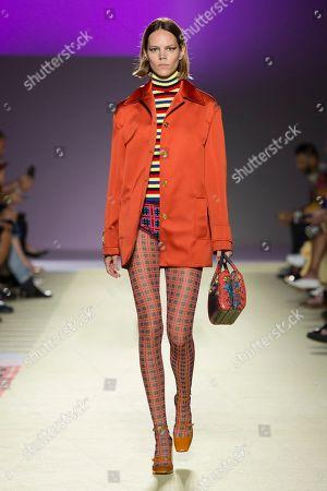 Editorial photo of Versace show, Runway, Spring Summer 2019, Milan Fashion Week, Italy - 21 Sep 2018