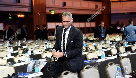 FIFA Chief Officer for Technical Development, Marco van Basten, attends the FIFA Football Conference in London, Britain, 23 September 2018. Coaches and technical directors from nearly 200 member associations and all six confederations took part in discussions on coaching matters, lessons learnt from FIFA World Cup 2018 in Russia and the use of video assistant referees (VARs), among others.