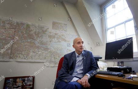 Labour member of the House of Lords, Andrew Adonis speaks during an interview with The Associated Press in London, . Britain's Labour Party may hold the fate of Brexit in its hands, if only it can decide what to do, and Adonis supports holding a second referendum on the Brexit issue