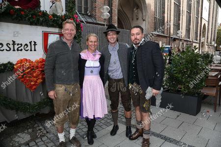 Patrick Schwarzenegger & Patrick M. Knapp Schwarzenegger & Frau Bliss Ellis & Klemens Hallmann