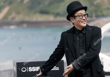 Japanese actor Lily Franky poses for the photographers during the presentation of the film 'Manbiki Kazoku' at the 66th edition of San Sebastian international Film Festival (SSIFF), in San Sebastian, Basque Country, northern Spain, 23 September 2018. The SSIFF will be held from 21 to 29 September 2018.