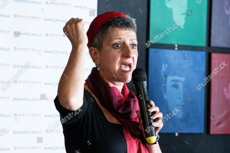 Rabbi Laura Janner-Klausner at a rally by The Jewish Labour Movement at The Liverpool Pub