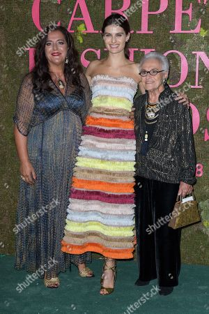 Angela Missoni, Isabeli Fontana and Rosita Missoni