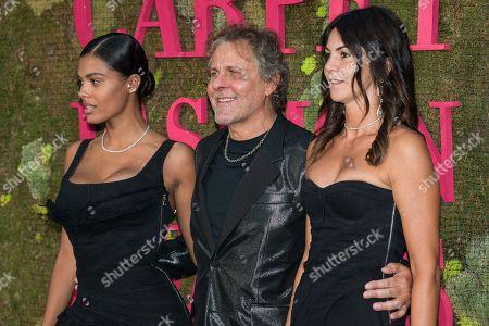 Stock Image of Tina Kunakey di Vita, Renzo Rosso and Arianna Alessi