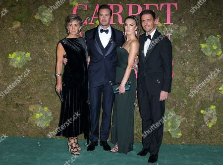 Stock Picture of Guest, Armie Hammer, Elizabeth Chambers and James Ferragamo