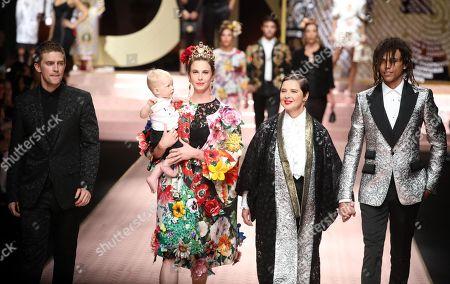 Editorial photo of Dolce & Gabbana - Runway - Milan Fashion Week S/S 2019, Italy - 23 Sep 2018