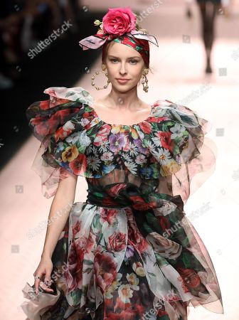 dfc82266b5e A model presents a creation by Dolce Gabbana during the Milan Fashion Week