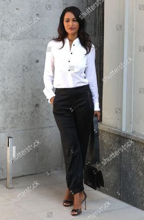 Rula Jebreal arrives for the Giorgio Armani women's 2019 Spring-Summer collection  during the Milan Fashion Week, in Milan, Italy, 23 September  2018. The Spring Summer 2019 Women's collections are presented at the Milano Moda Donna from 19  to 24 September.
