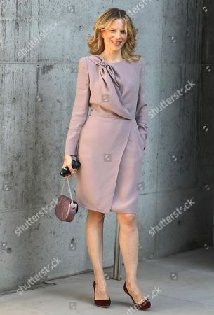Stock Image of Sonia Bergamasco arrives for the Giorgio Armani women's 2019 Spring-Summer collection  during the Milan Fashion Week, in Milan, Italy, 23 September  2018. The Spring Summer 2019 Women's collections are presented at the Milano Moda Donna from 19  to 24 September.