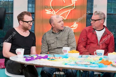 Jason Byrne, Karl Pilkington and Mark Kemode