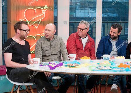 Jason Byrne, Karl Pilkington, Mark Kemode and Daniel Mays
