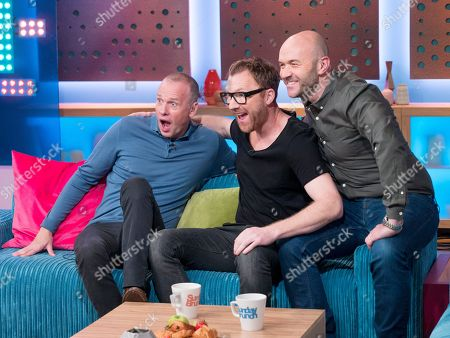 Stock Picture of Jason Byrne, Tim Lovejoy and Simon Rimmer