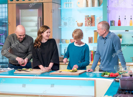 Simon Rimmer, Claudia Jessie, Claire Skinner and Tim Lovejoy