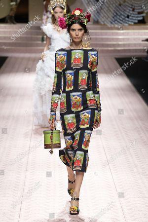 Editorial image of Dolce & Gabbana show, Runway, Spring Summer 2019, Milan Fashion Week, Italy - 23 Sep 2018