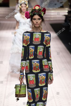 Editorial photo of Dolce & Gabbana show, Runway, Spring Summer 2019, Milan Fashion Week, Italy - 23 Sep 2018
