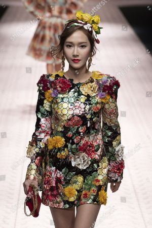 Jessica Jung on the catwalk