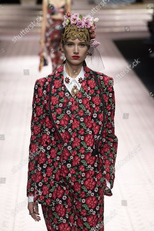 Stock Picture of Altyn Simpson on the catwalk