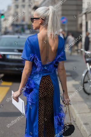 Editorial picture of Street Style, Spring Summer 2019, Milan Fashion Week, Italy - 22 Sep 2018
