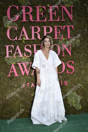 Italian Actress Stefania Rocca attends Green Carpet Fashion Awards 2018, in Milan, Italy, 23 September 2018. The Spring Summer 2019 Women's collections are presented at the Milano Moda Donna from 19 to 23 September.