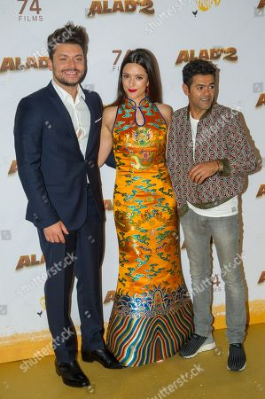 Kev Adams, Vanessa Guide and Jamel Debbouze