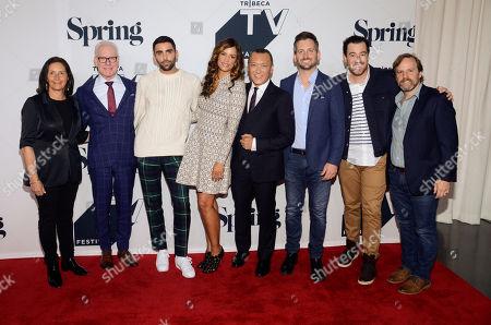 Tim Gunn, PhillpPicardi, Veronica Webb, Joe Zee, Chad Mumm, Dan Parkland and guests