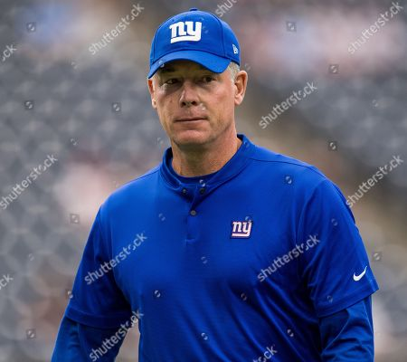 New York Giants head coach Pat Shurmur walks on the field prior to a NFL football game between the Houston Texans and the New York Giants at NRG Stadium in Houston, TX. The Giants won the game 27 to 22